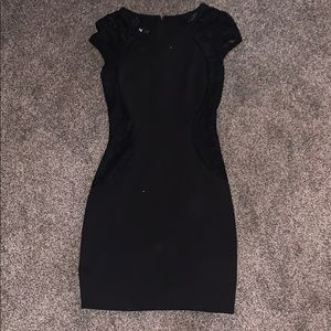 Black lacey fitted dress